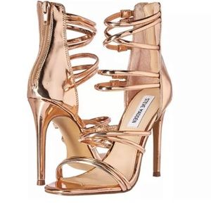 Steve Madden Tito Stiletto Sandal Rose Gold Sz 8M